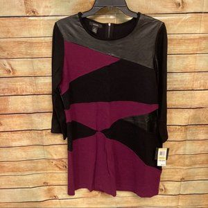 Alfani NEW color block dress size M